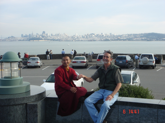 Khenpo Jigme and Lama Thapkhay in San Francisco, 2006