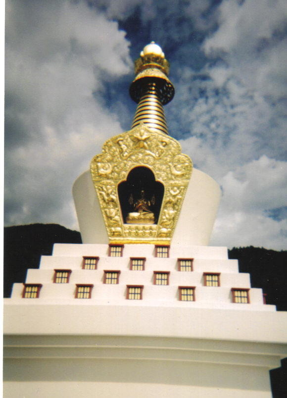 The Tashi Gomang Stupa in Crestone, Colorado, in honor of The XVI Gyalwa Karmapa with 84,000 Paths to Understanding