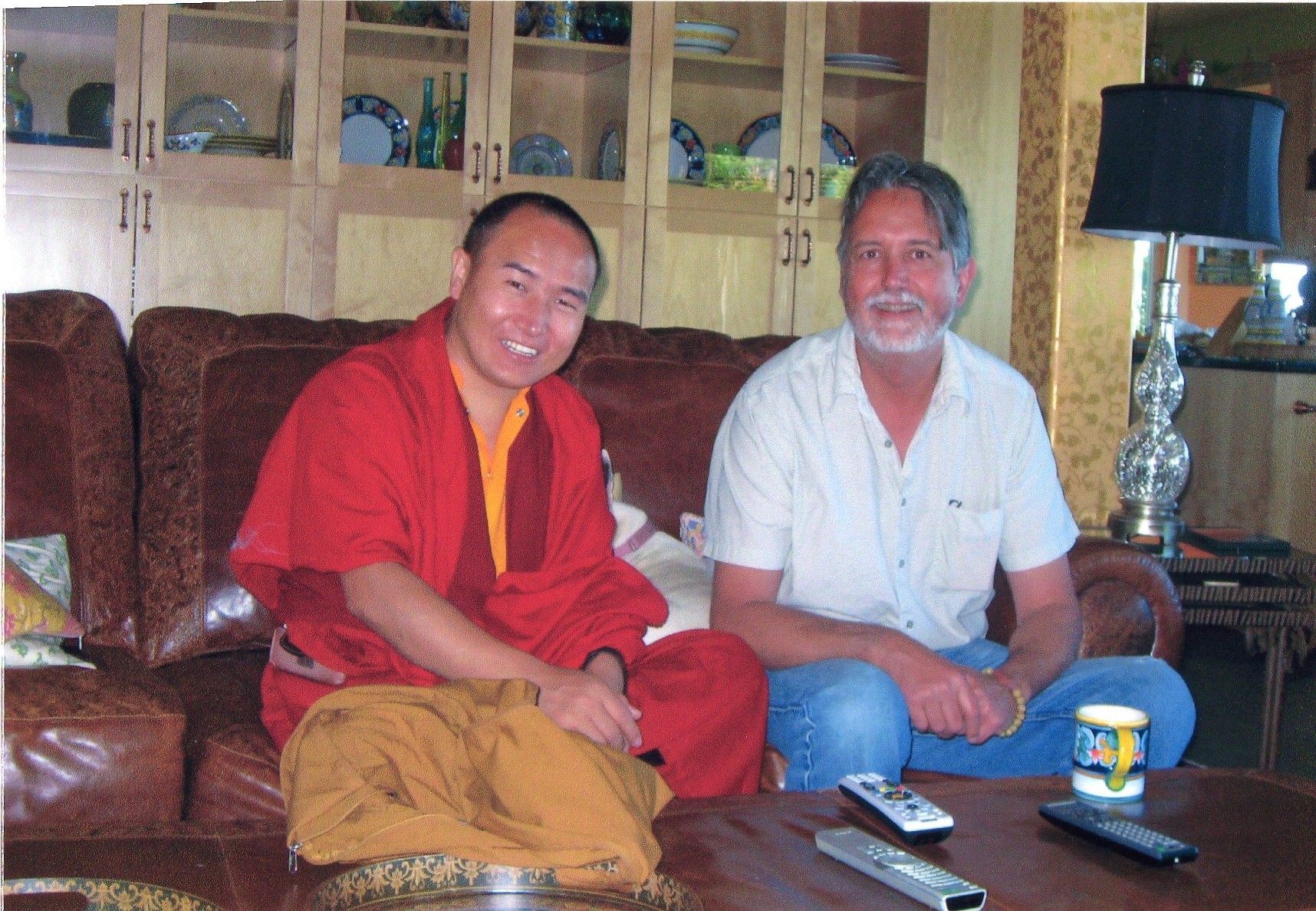Tulku Damcho Rinpoche and Lama Thapkhay in Point Arena, 2008
