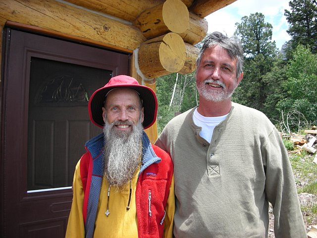 Yeshe Dorje and Lama Thapkhay in Crestone mountain retreat, 2007
